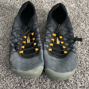 Merrell barefoot running shoes with lock laces